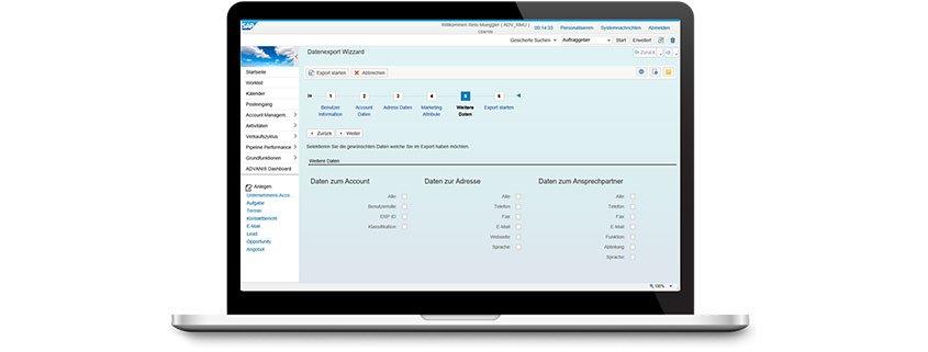 SAP CRM Datenexport Wizard