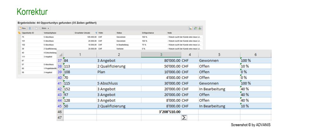 Excel-Export ohne Nachberarbeitung