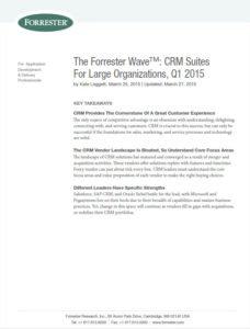 Deckblatt Forrester Studie CRM 2015