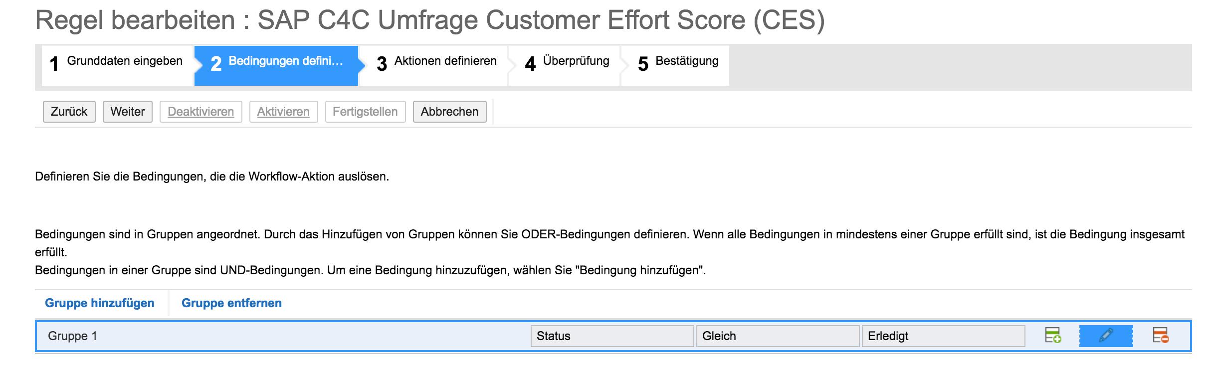 Arbeitschritt 1 Einrichten CES in SAP Hybris C4C
