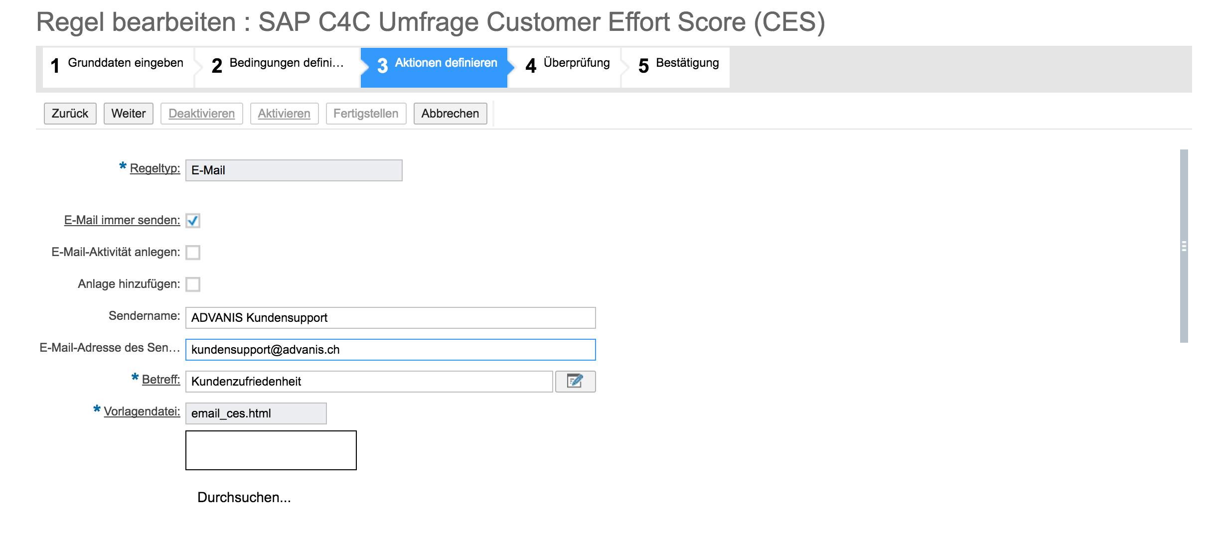 Schritt 2: Erstellen CES in SAP Hybris C4C