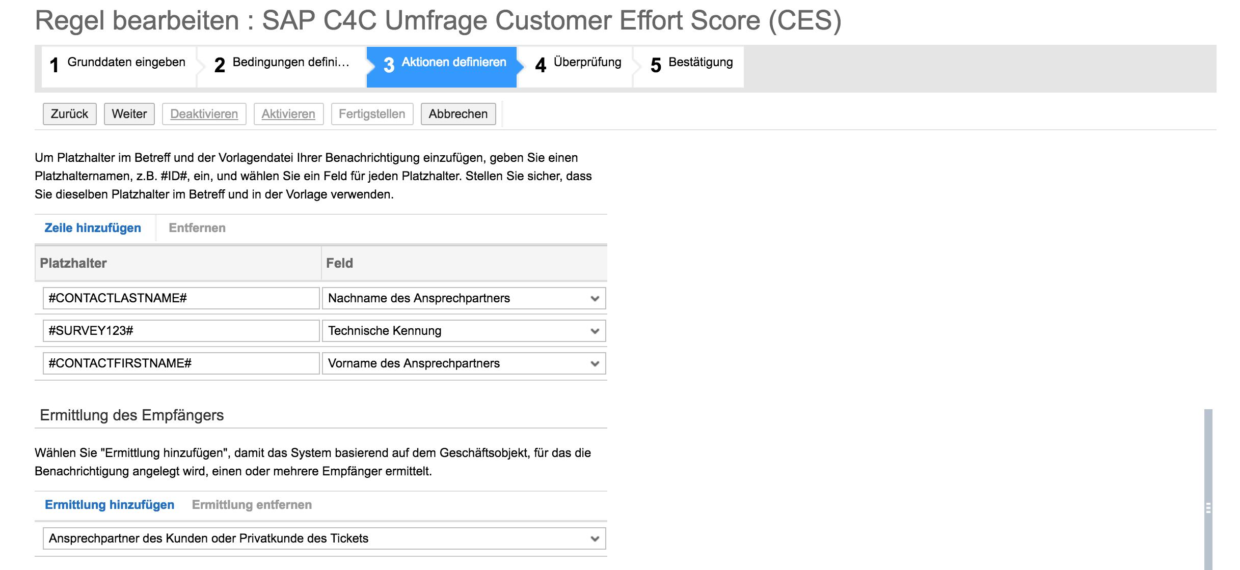 Dritter Schritt: Erstellen CES in SAP Hybris C4C