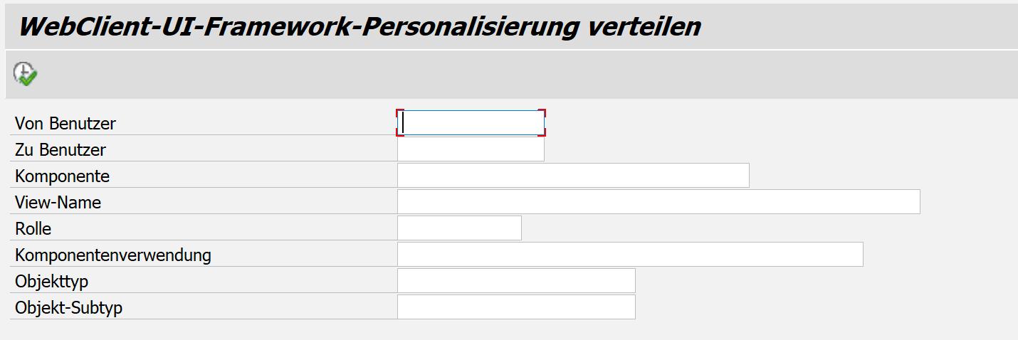 Eine der SAP CRM Innovationen: Personalisierungseinstellungen kopieren in SAP CRM