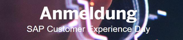 Anmeldung SAP Customer Experience Day 2019