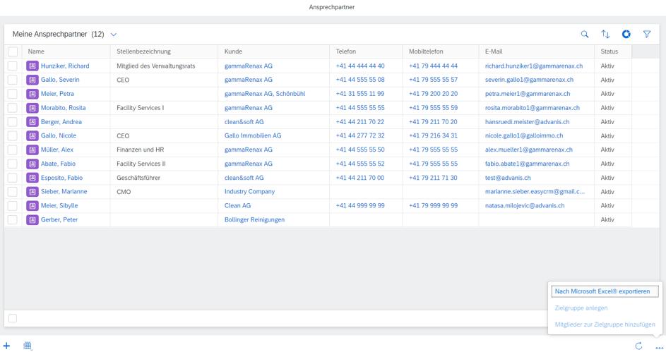 So einfach gelingt der Export von Kontakten mit der Benutzung des SAP Sales Cloud Excel Add-In