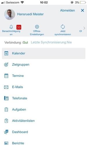"""Übersicht über die Funktionen der App """"Cloud for Customer Extended Edition"""""""